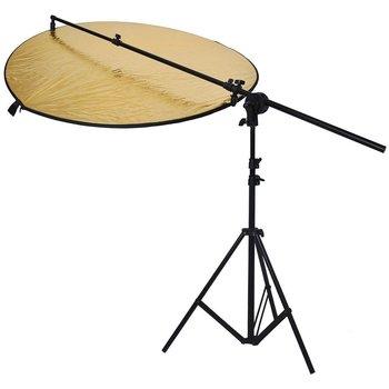 "Rent  Photo Studio Bracket Grip Holder 24""-47""/60-120cm Swivel Head Reflector Arm Support + 6Ft/75"" Photography Light Stand"