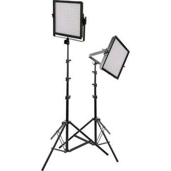 Rent 2 x Genaray LED Bi-Color + Dimmable Light Panels + Stands