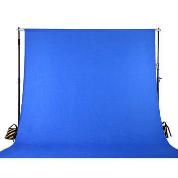 Rent Bluescreen Drape 20x10' w/ Stand