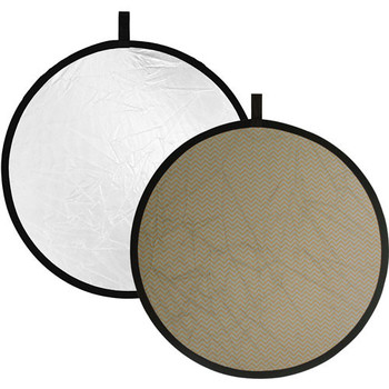 Rent Circular Reflector (Silver/White) 52""