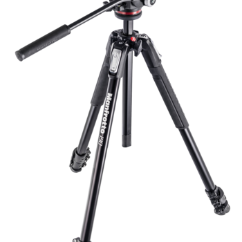 Rent Manfrotto 190 Tripod + Fluid Head for DSLR