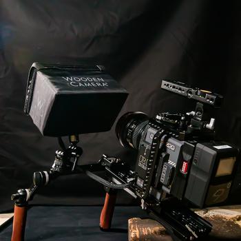 Rent Wooden Camera Shoulder Rig v2 (Mid) w/ Brown Leather Grips