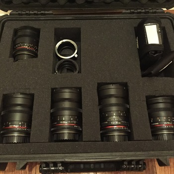 Rent Rokinon Cine Lens Set (EF Mount with E Mount and MFT Adapter) - 5 Lenses