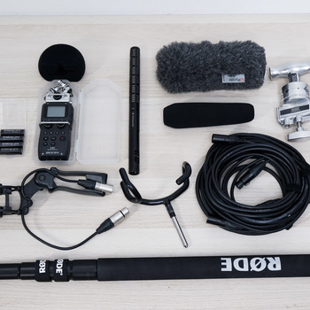 Rent Boom Sound Recording Kit (Zoom H5, Sennheiser ME66/K6, Rode Boompole and accessories)