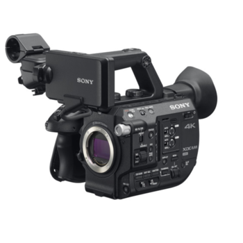 Rent Sony FS5 with Fujinon MK 18 - 55mm T2.9 for Sony E and Tripod Manfrotto 546BK with Video Head 504HD