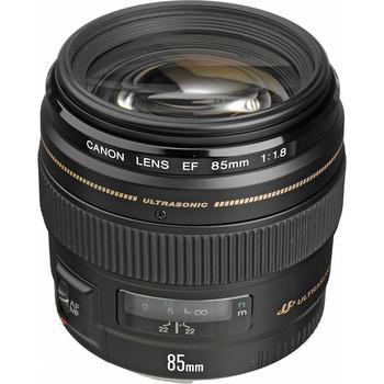 Rent Canon EF 85mm f/1.8 USM Medium Telephoto Lens for Canon SLR Cameras - Fixed