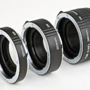 Rent Kenko Extension Tube Set EF Mount (12,20,36mm)