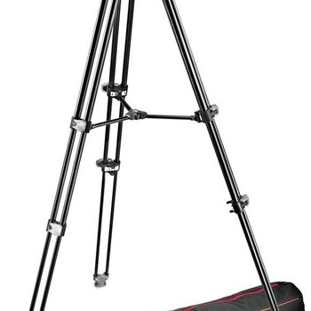 Rent Manfrotto MVK502AM-1 Professional Fluid Video System Aluminum Tripod with Telescop Twin Leg