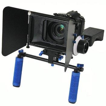 Rent DSLR Camera Shoulder Rig: Matte Box, 15mm Rod Rig, Follow focus, Whip and ND filters