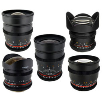 Rent Rokinon Prime Lens Set (6)
