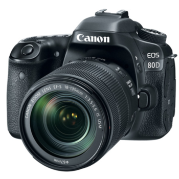Rent Canon EOS 80D camera w/ lens and microphone