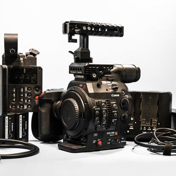 Rent Canon EOS C300 Mark II (A) Shoulder rig with VCT Quick Release