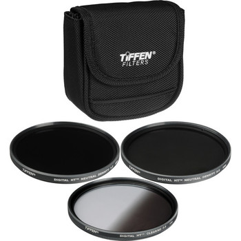 Rent Three (3) Piece 82mm ND Filter Kit (0.6, .09. 1.2) with 82-77mm and 77-72mm Step-Down Rings