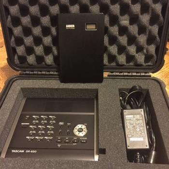 Rent Tascam DR 680 with Anker Portable Battery