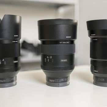 Rent Sony E mount Prime Lenses