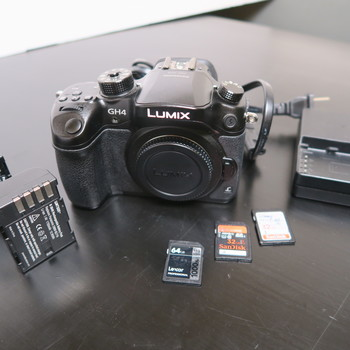 Rent Panasonic Lumix GH4 Camera body with batteries and SD cards