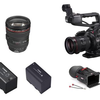 Rent Canon EOS C100 Dual Pixel AF w/ Canon EF 24-105mm 4L