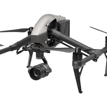 Rent DJI Inspire 2 drone with X5S camera, lens kit, media and ProRes license