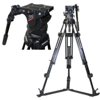 Rent Manfrotto 510 Tripod Head with Two Stage Metal Legs