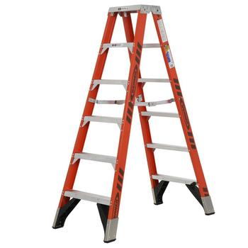 Rent 6ft Fiberglass Twin Step Ladder w/ 375lb Load (Werner)