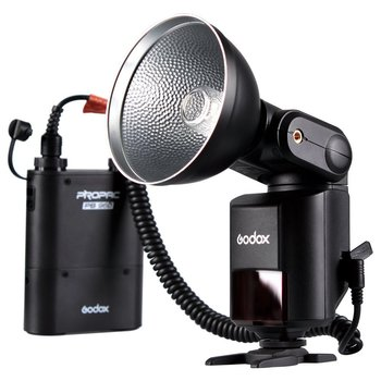 Rent Godox Flash AD360II-C TTL 360WFlash Light +  Lithium Battery for Canon EOS Camera (Black)