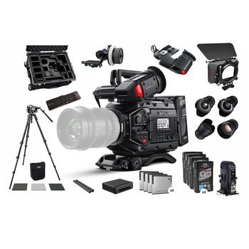 Rent Black magic URSA Mini Pro Camera w/Cine Prime Lens Set, Tripod, Mattebox, Follow Focus, Filters