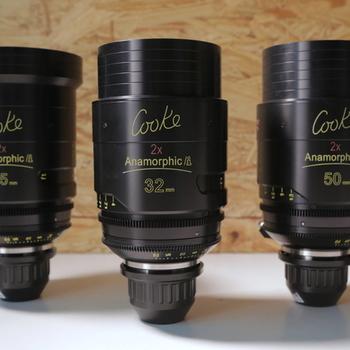 Rent TEMP: Cooke Anamorphic 3 lens set