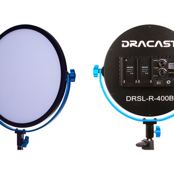 Rent 2 Dracast Silkray Bi-Color lights with stands and batteries