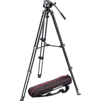 Rent Manfrotto MVH500A Fluid Drag Video Head with MVT502AM Tripod + Carry Bag