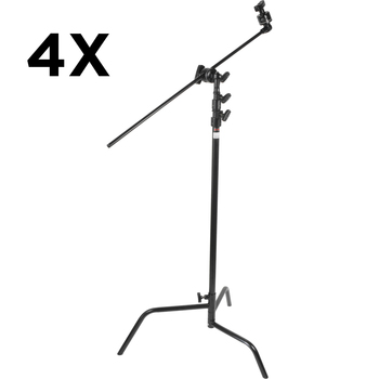 Rent FOUR Matthews C-stands with 40' Arms + Grip Heads