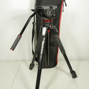 Rent Manfrotto MVH502AH tripod head with MT055CXPRO3 Legs