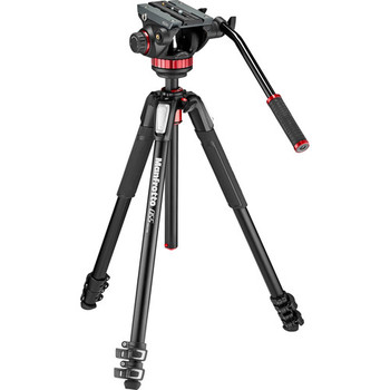 Rent Manfrotto MT055XPRO3 Aluminum Tripod with 502HD Fluid Head Hybrid Video Kit