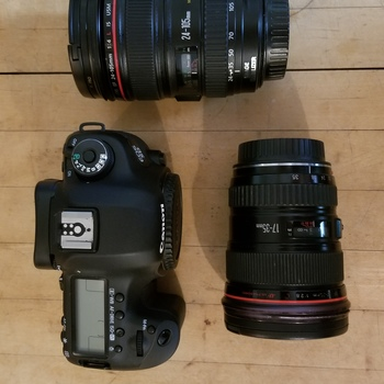 Rent Canon 5D Mark III kit with 24-105mm and 17-35mm lenses