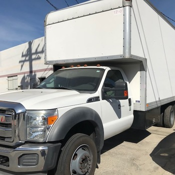 Rent 2011 FORD F550 17' BOX TRUCK WITH ALUMINUM GATE