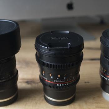 Rent 14mm, 50mm & 85mm Rokinon lenses