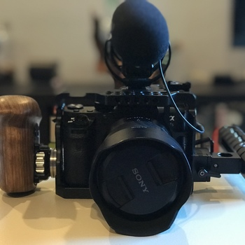 Rent a7s ii, Sony-Zeiss  24-70 lens, Rode mic, LED light, 3 batteries, cage, backpack