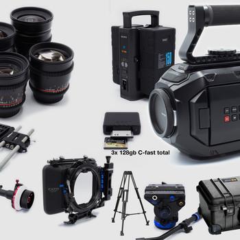 Rent Ursa Mini 4K + Rokinon Lens Production Package