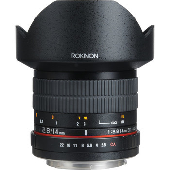 Rent E Mount Rokinon 14mm F/2.8 Wide Angle Lens