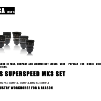 Rent Very well kept ZEISS Superspeed MK3 lens set (18, 25, 35, 50, 65, 85mm) T1.3