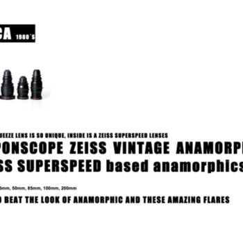Rent Very well kept Nipponscope vintage anamorphic lenses (Zeiss superspeed based anamorphics) (24, 35, 50, 85, 100, 200mm, T 2.3)