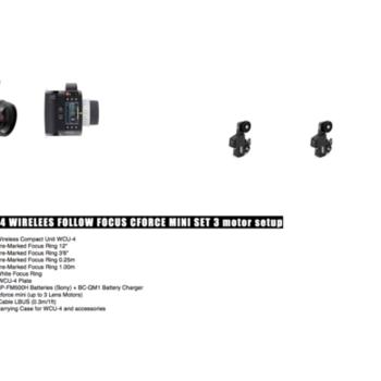 Rent Arri WCU4 Wireless Follow Focus C Force mini set - 3 motor setup (great to use with Arri Alexa mini & other cameras!)