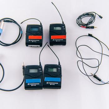 Rent Sennheiser EW 100 ENG G3 Wireless kit x 2 with Tram TR50