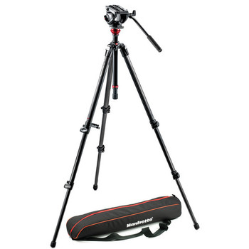 Rent Manfrotto Carbon Fiber tripod with Fluid head