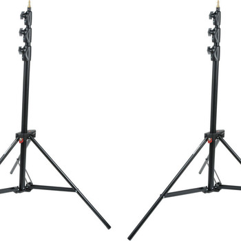 Rent Two Light Stands - Manfrotto Alu Master Air-Cushioned (Black, 12')