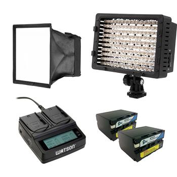 Rent On-board LED Light CN 160 w/ Batts, Softbox