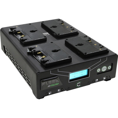 Core swx fleet micro 3a digital quad charger for gold mount batteries