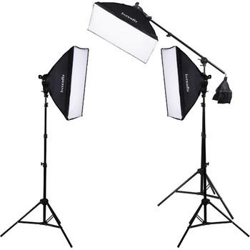 Rent F5 Three-Head Fluorescent Lighting Kit with Boom Arm