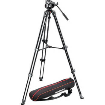 Rent Manfrotto MVH500A Fluid Drag Video Head with MVT502AM Tripod