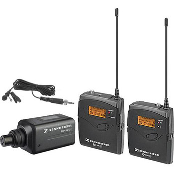 Rent Sennheiser dual wireless mic and broadcast mic kit