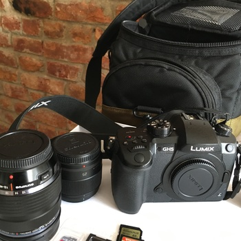 Rent Panasonic GH5 + 25mm+ Olympus 12-40mm f2.8 and accessories
